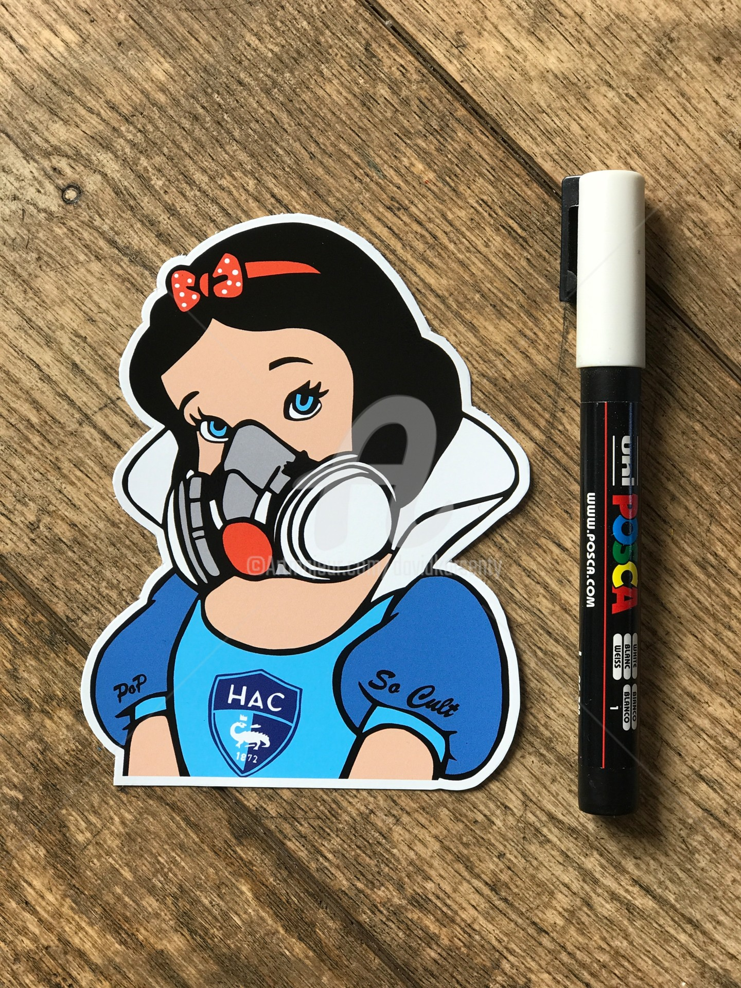 "David Karsenty - Sticker "" Blanche neige Hac """