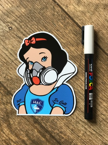 "Sticker "" Blanche neige Hac """