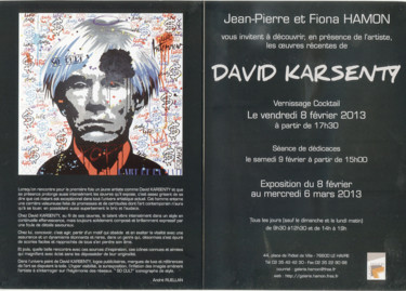 Carton exposition DAVID KARSENTY ,2013 ,Galerie Hamon le Havre