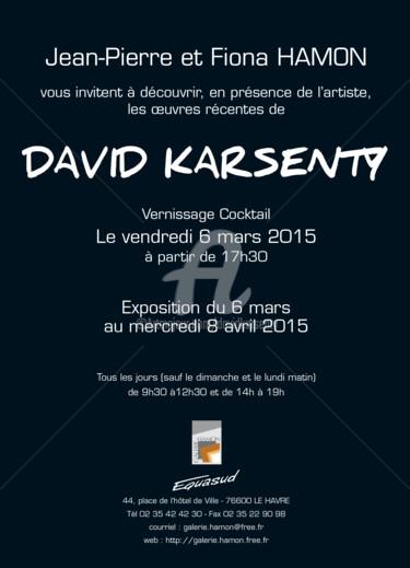carton vernissage exposition DAVID KARSENTY