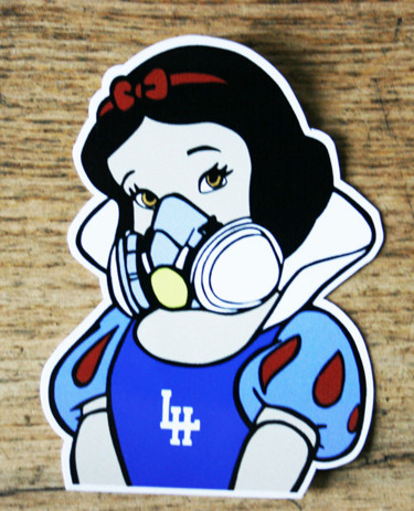 "Sticker "" Oh Blanche """